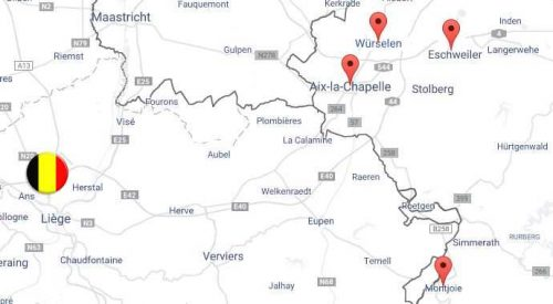 carte magasins allemands proche belgique